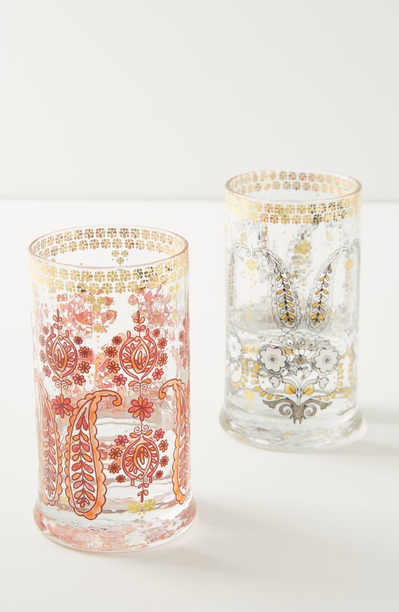 ANTHROPOLOGIE Jasmine Juice Glass, Main, color, BEIGE