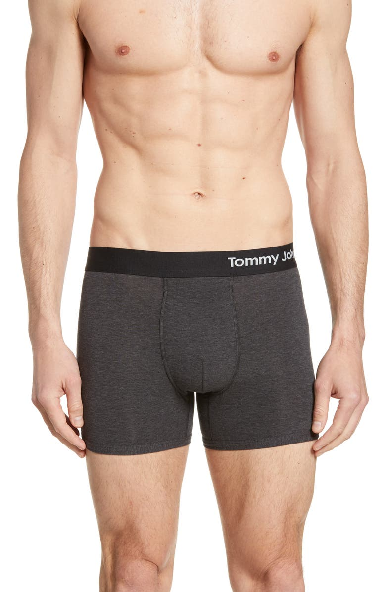 TOMMY JOHN Cool Cotton Trunks, Main, color, CHARCOAL HEATHER GREY