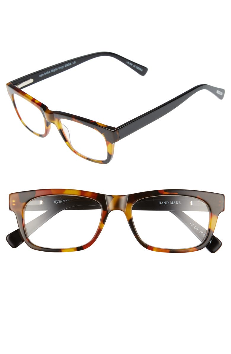 EYEBOBS Style Guy 52mm Reading Glasses, Main, color, TORTOISE WITH BLACK