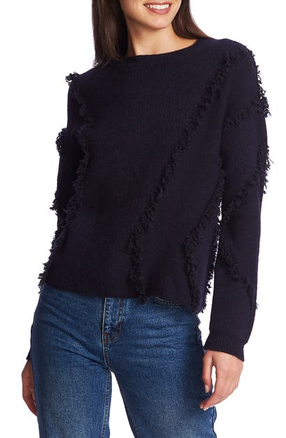 1.state Sweaters FRINGE DETAIL SWEATER