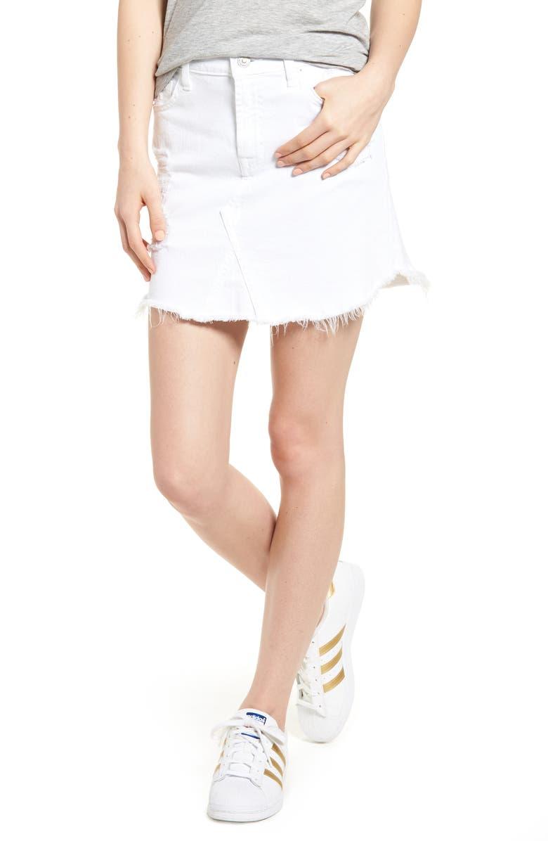 14dc3d15ec 7 For All Mankind® Scallop Fray Hem Denim Skirt (White Fashion 3 ...