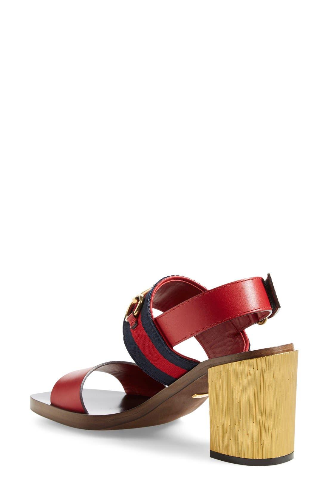 ,                             'Querelle' Horsebit Slingback Sandal,                             Alternate thumbnail 8, color,                             600