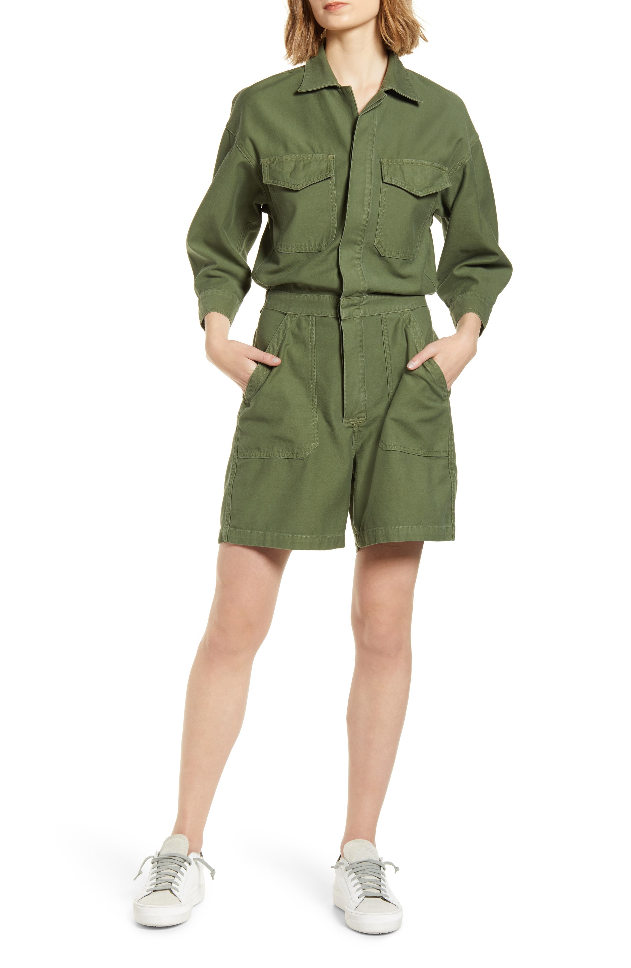 Citizens of Humanity Marta Utility Cotton Romper | Nordstrom