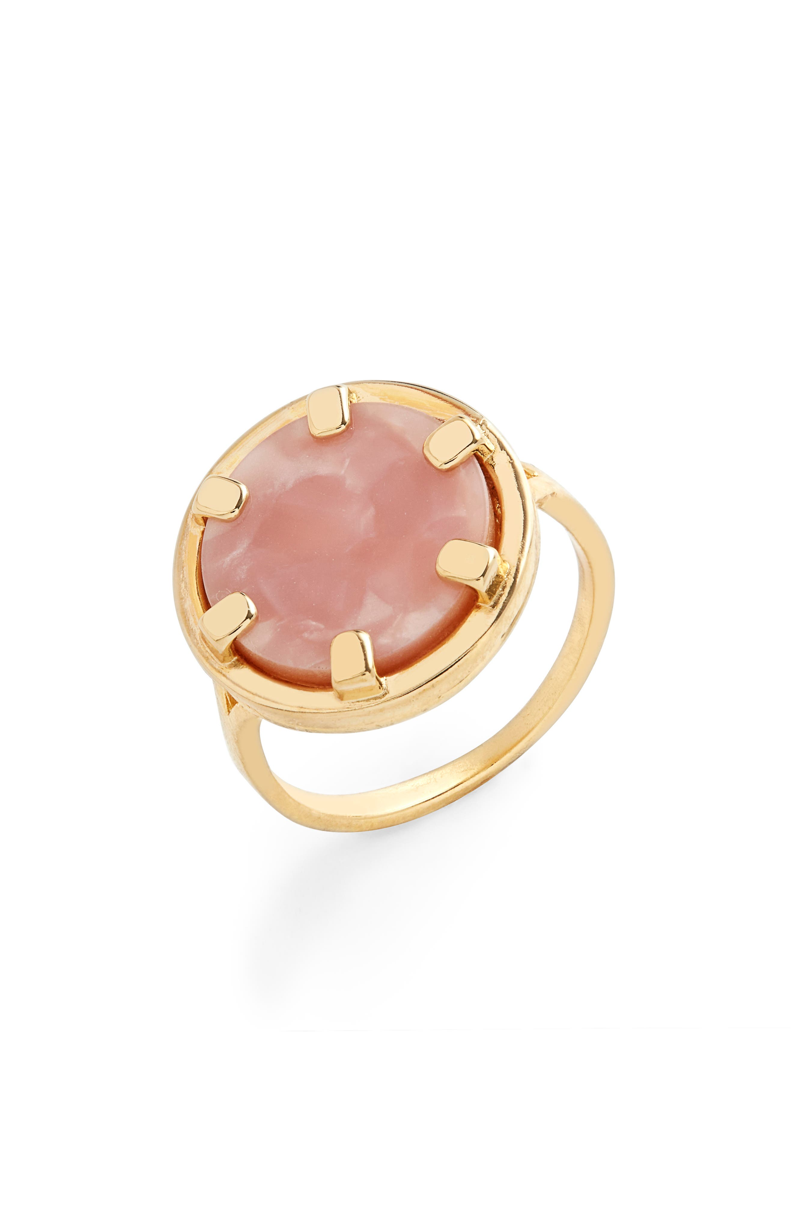 Bria Mother Of Pearl Coin Ring