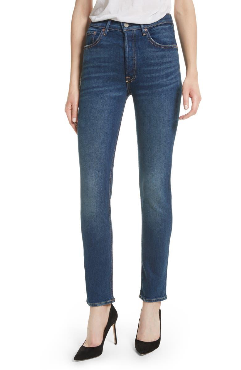 GRLFRND Karolina High Waist Skinny Jeans, Main, color, 494