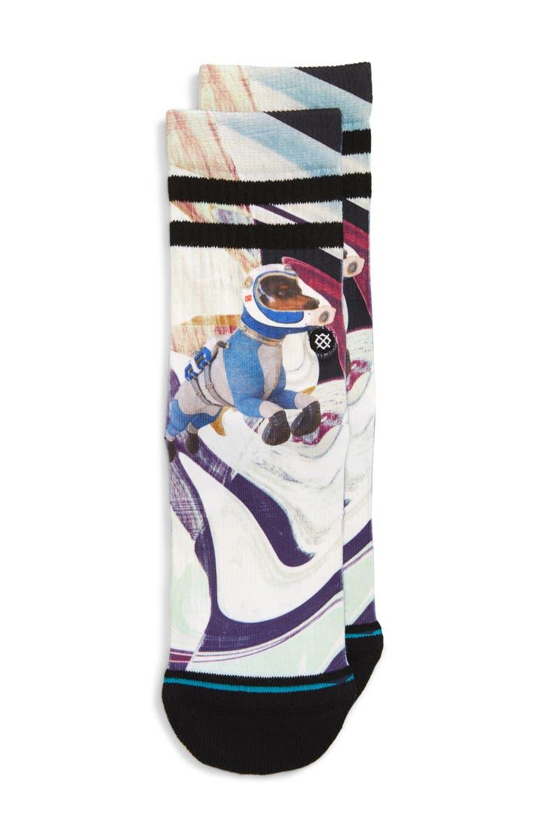 STANCE Astrodog Crew Socks, Main, color, 001