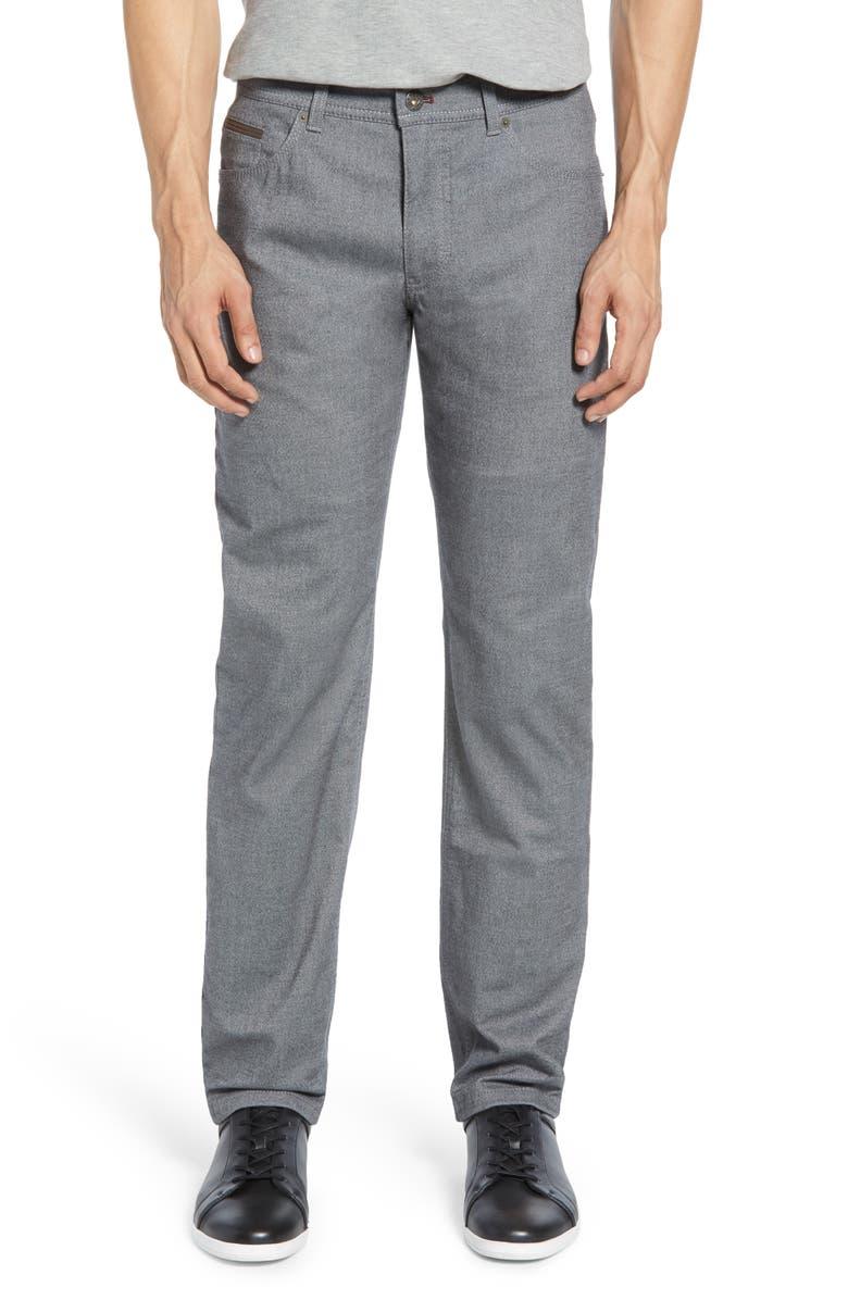 BRAX Woolook 2.0 Flex Straight Leg Pants, Main, color, GRAPHITE