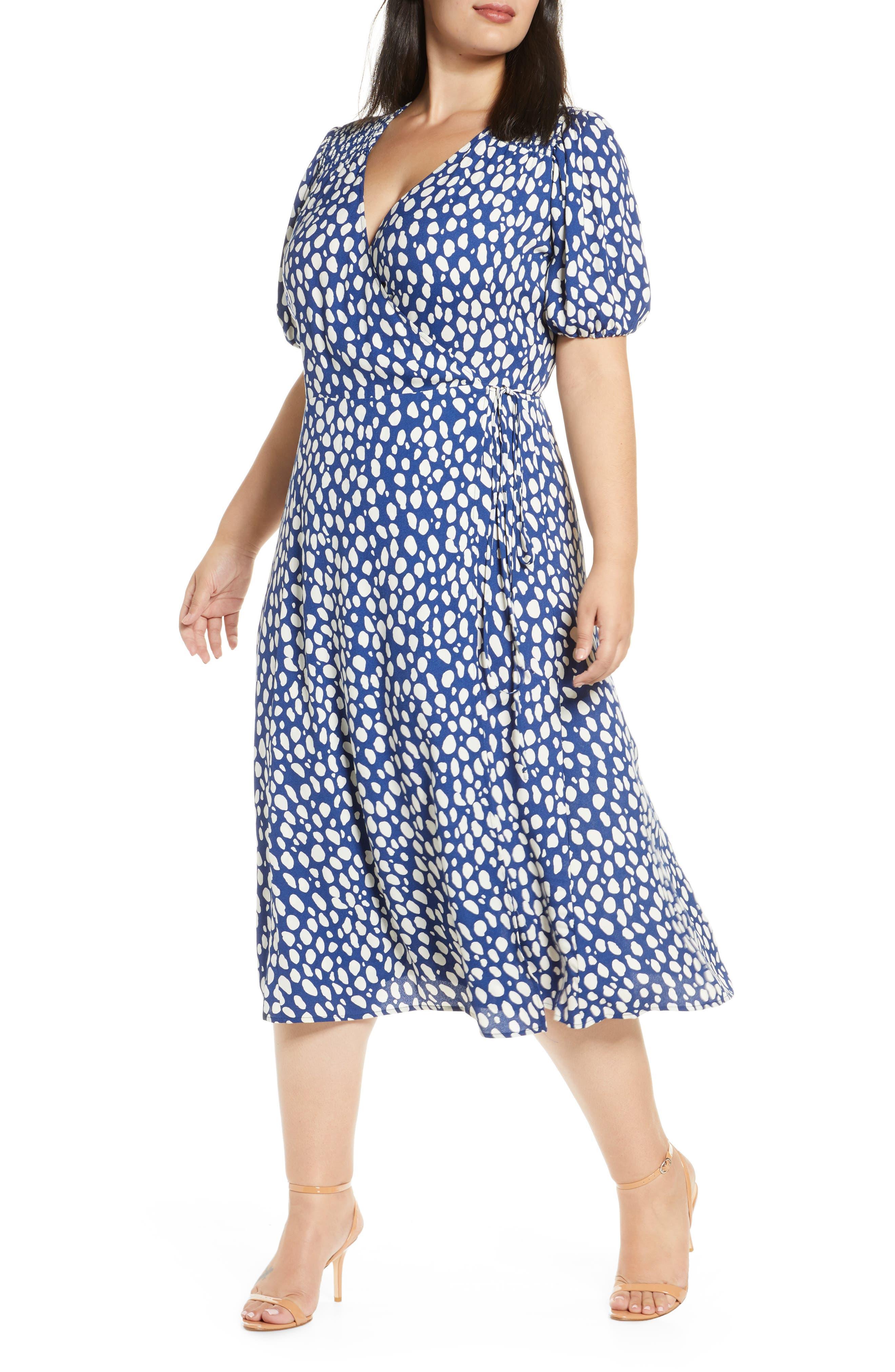 1930s Art Deco Plus Size Dresses | Tea Dresses, Party Dresses Plus Size Womens Reformation Augustina Midi Wrap Dress $218.00 AT vintagedancer.com