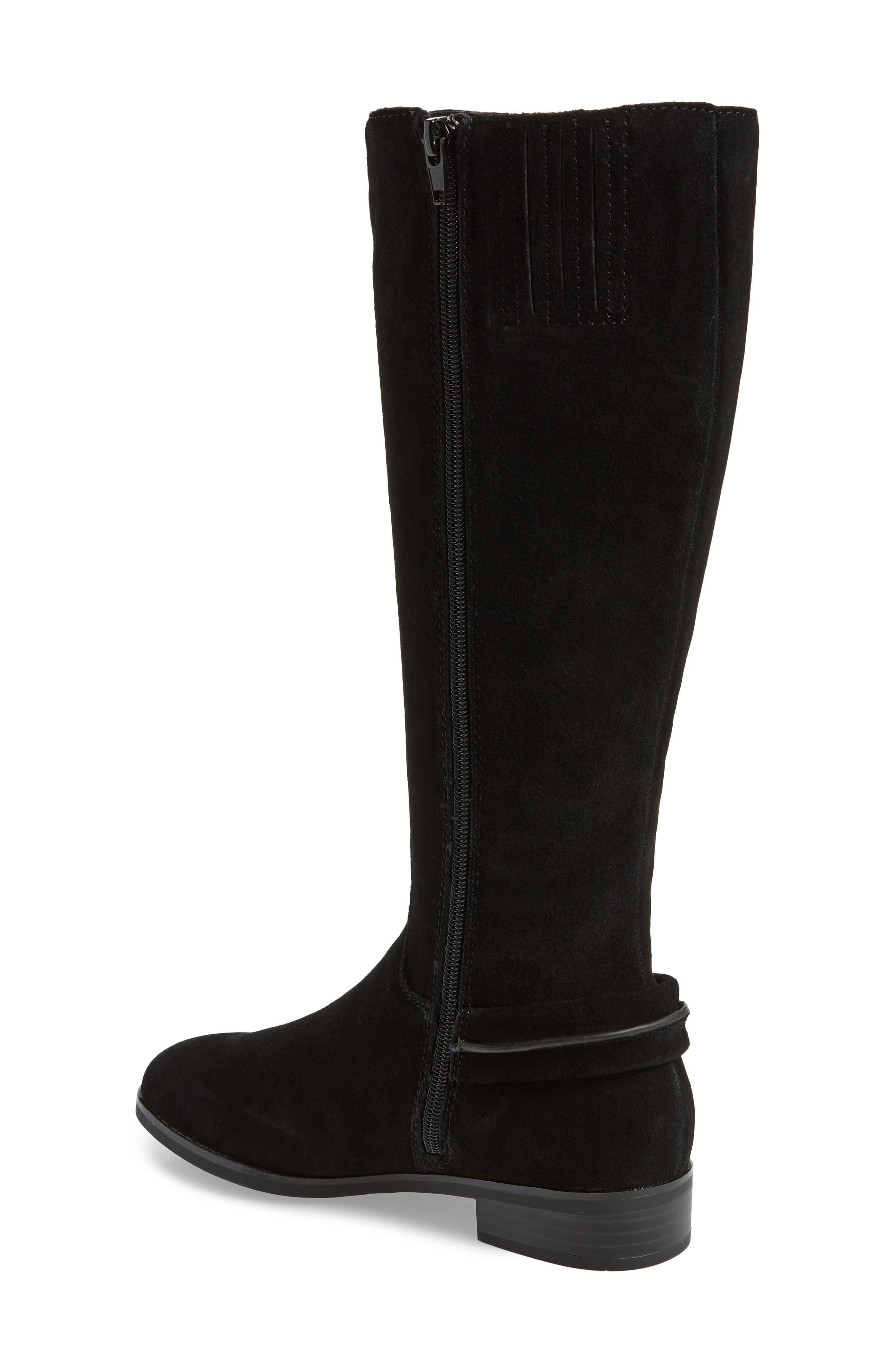 ,                             Cheverly Knee High Boot,                             Alternate thumbnail 2, color,                             BLACK SUEDE