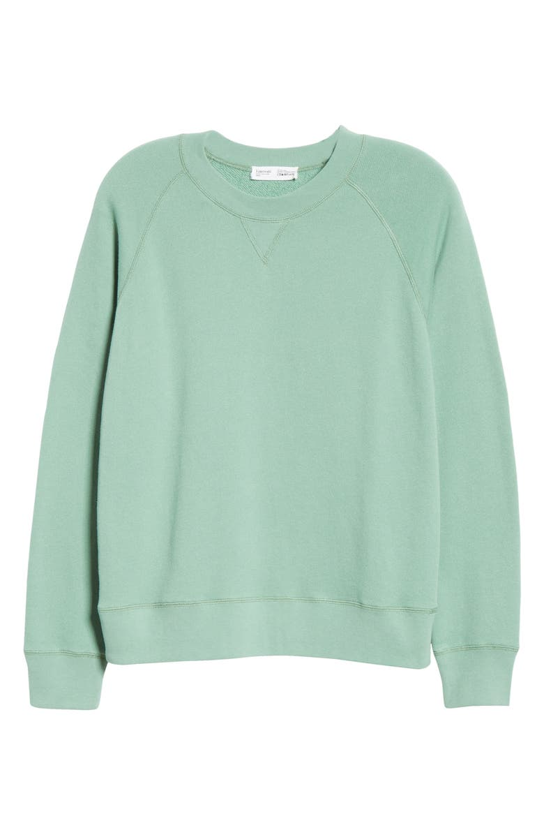 ENTIREWORLD French Terry Sweatshirt, Main, color, PEAR
