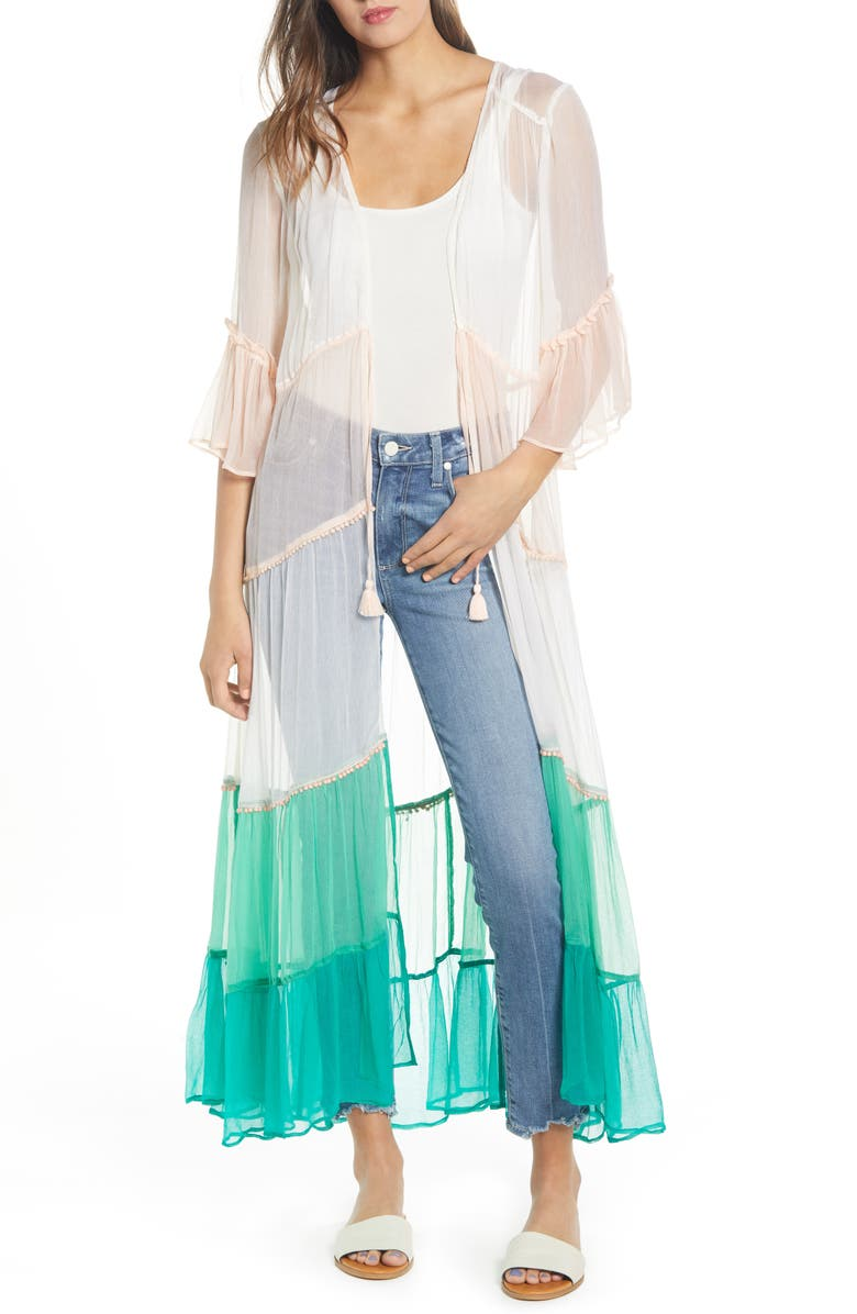 NEW FRIENDS COLONY Amalfi Sheer Duster, Main, color, 440