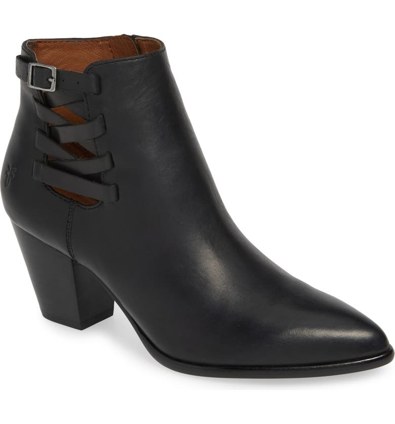 FRYE Reed Strappy Bootie, Main, color, BLACK