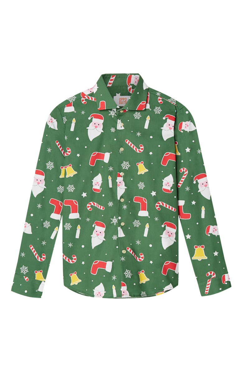 OPPOSUITS Santa Boss Shirt, Main, color, GREEN
