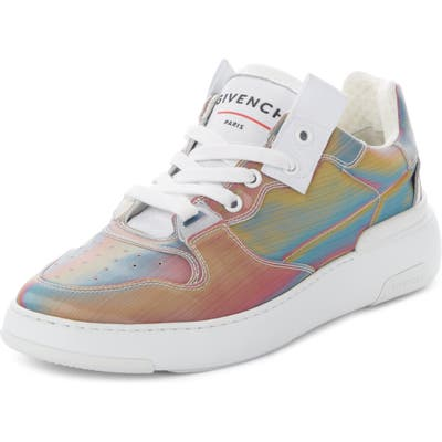 Givenchy Hologram Perforated Low Top Sneaker, White