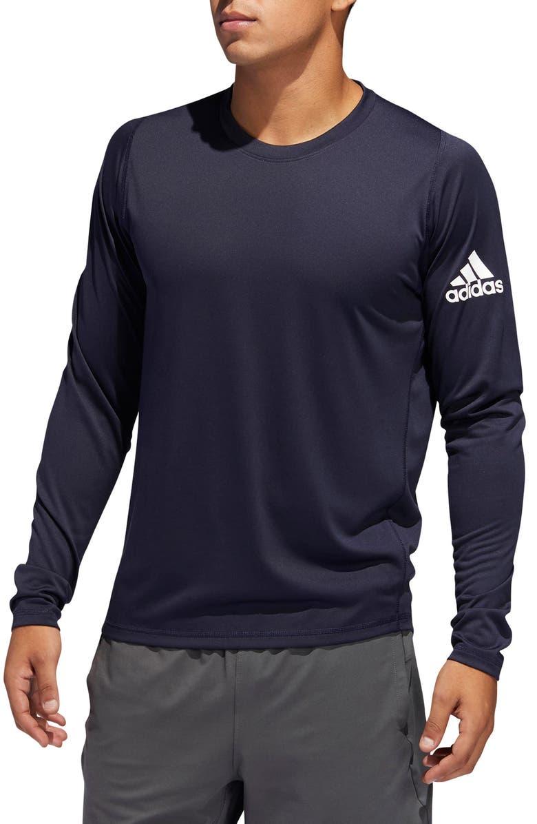 ADIDAS FreeLift Sport Long Sleeve Performance T-Shirt, Main, color, LEGEND INK