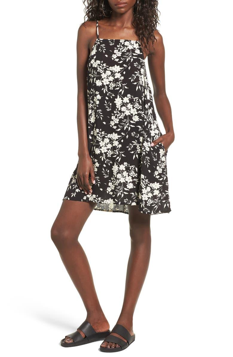 MIMI CHICA Print Lattice Back Dress, Main, color, 001