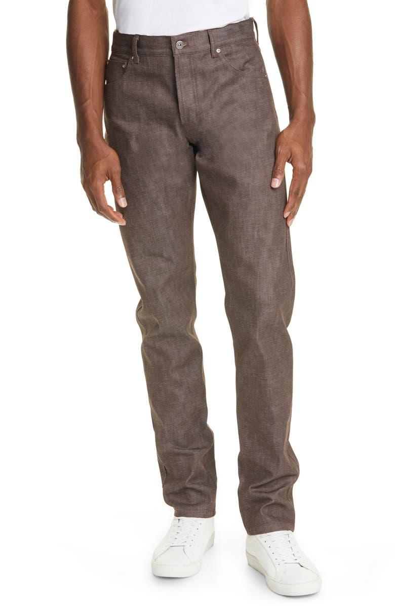 BOTTEGA VENETA Denim Carpenter Pants, Main, color, COFFEE