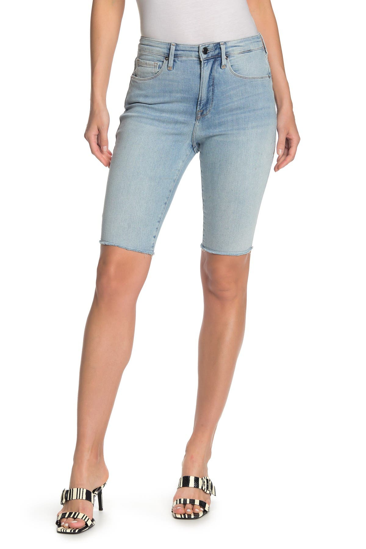 Image of Good American High Waist Bermuda Shorts