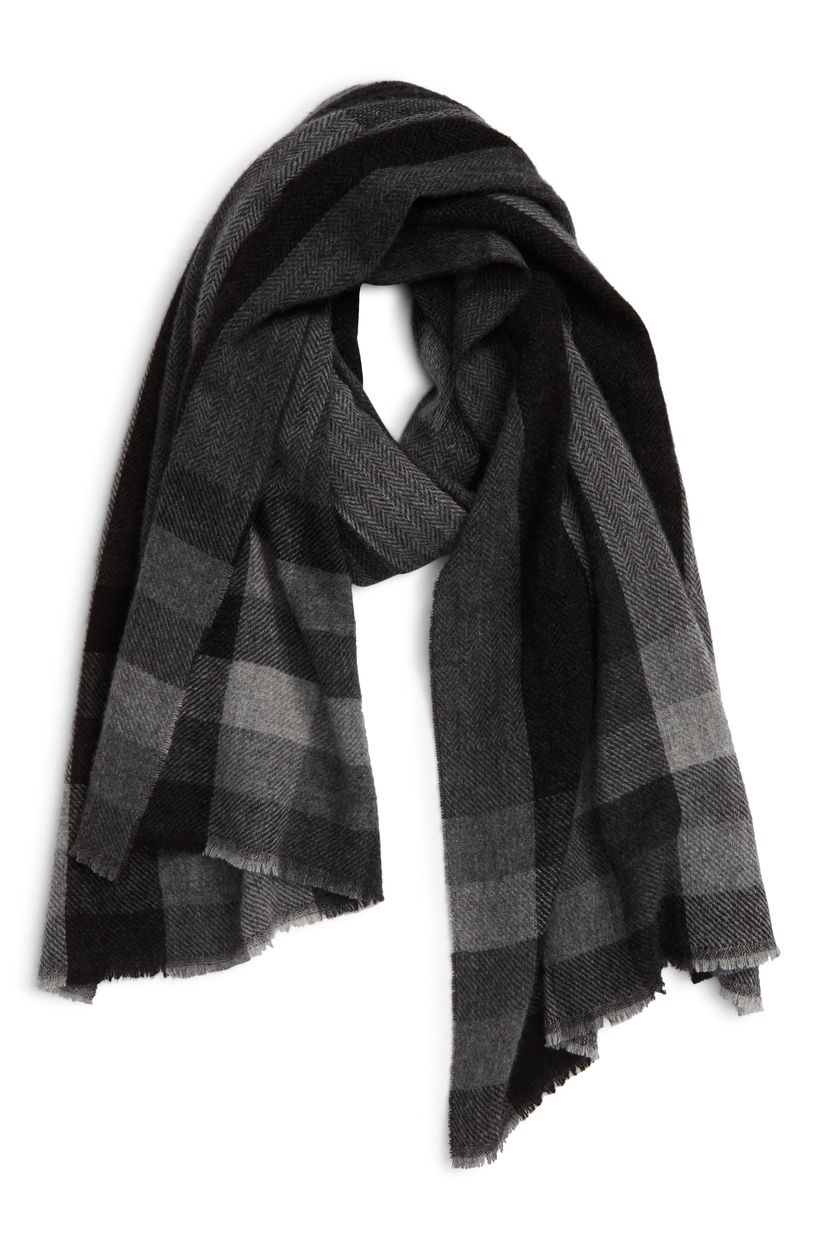 Mixed Weave Cashmere Scarf
