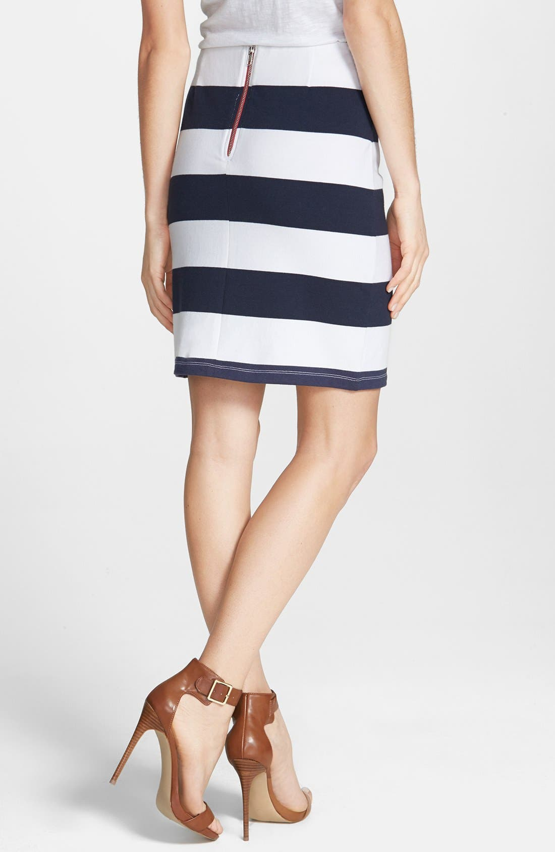 ,                             Stripe French Terry Skirt,                             Alternate thumbnail 12, color,                             411