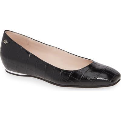 Calvin Klein Heidy Skimmer Flat- Black