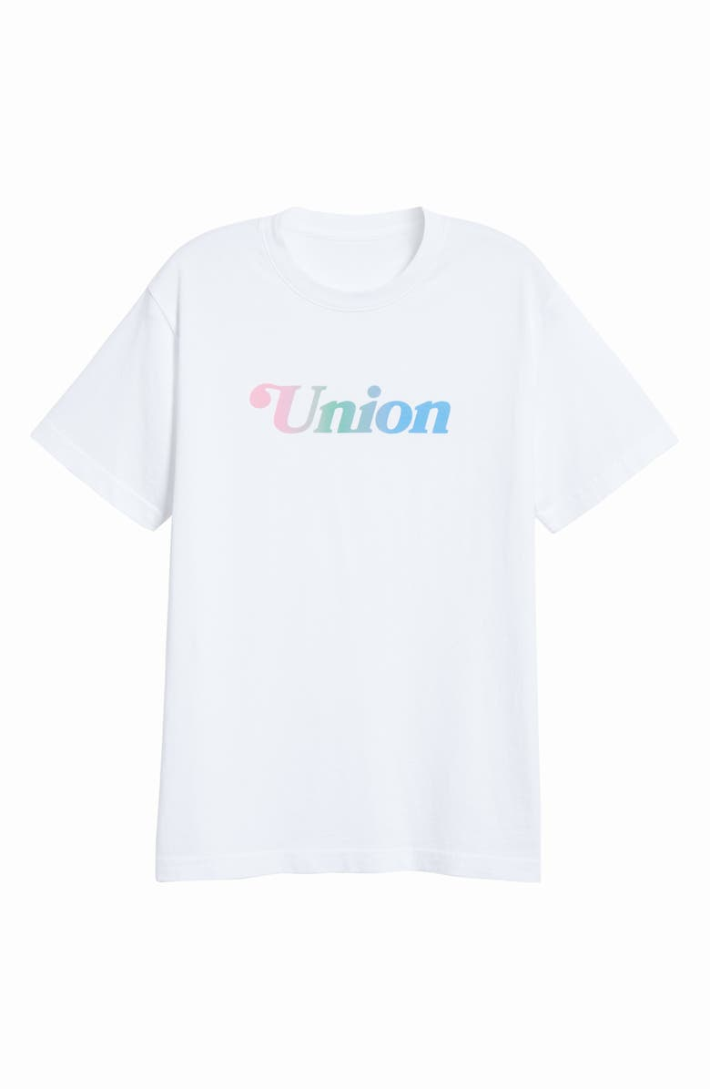 UNION PRINTABLES Summer Logo T-Shirt, Main, color, 100