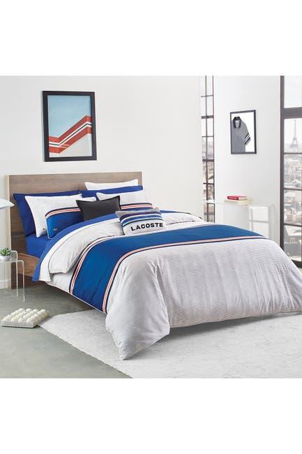 Image of Lacoste Praloup Blue Multi 3-Piece King Comforter Set