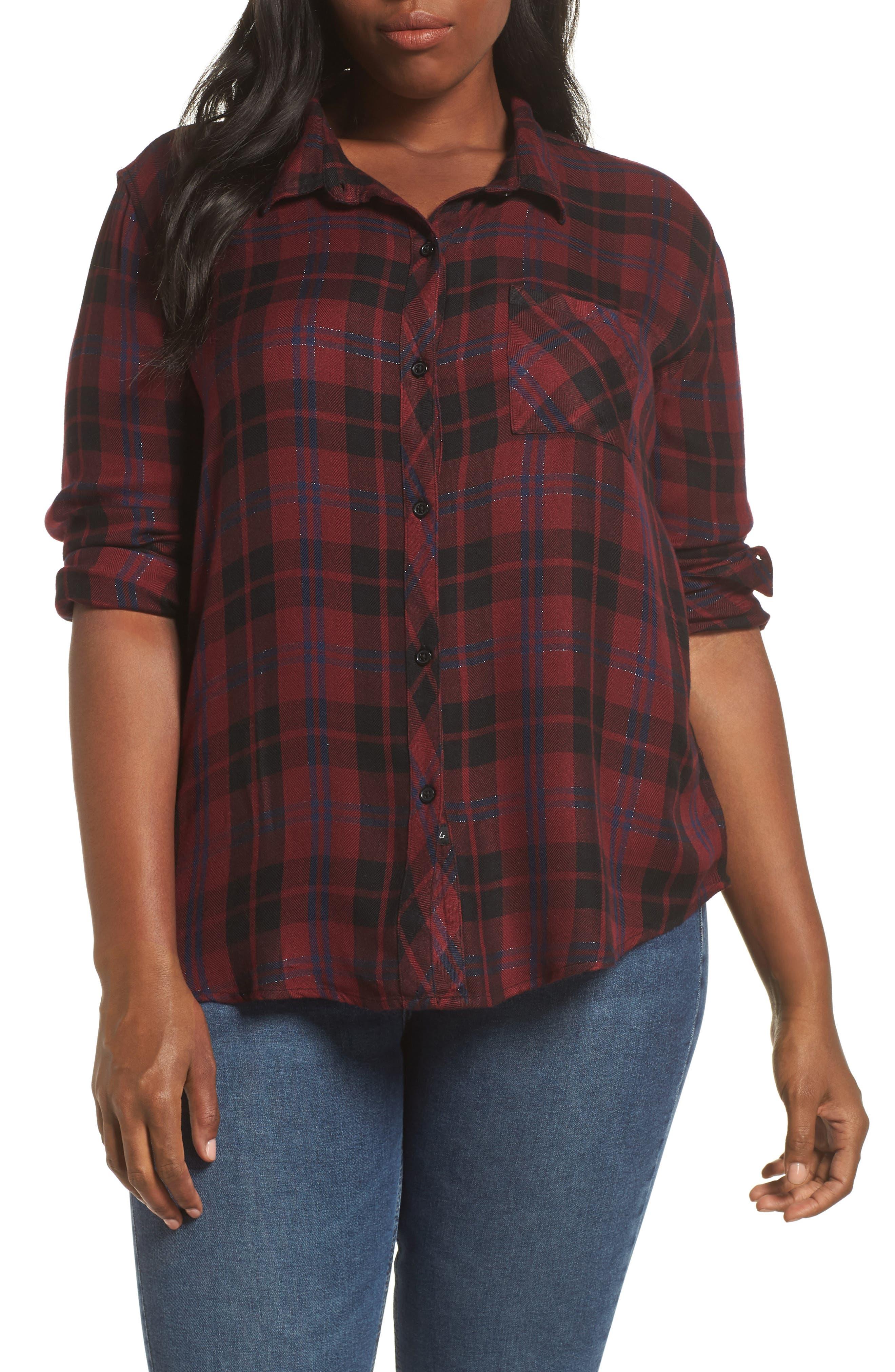 ,                             Hunter Plaid Shirt,                             Alternate thumbnail 434, color,                             932