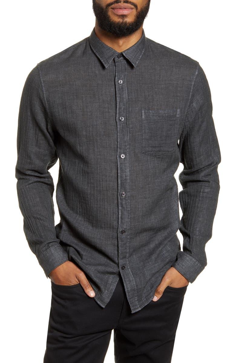 VINCE Classic Fit Double Face Button-Up Shirt, Main, color, 060