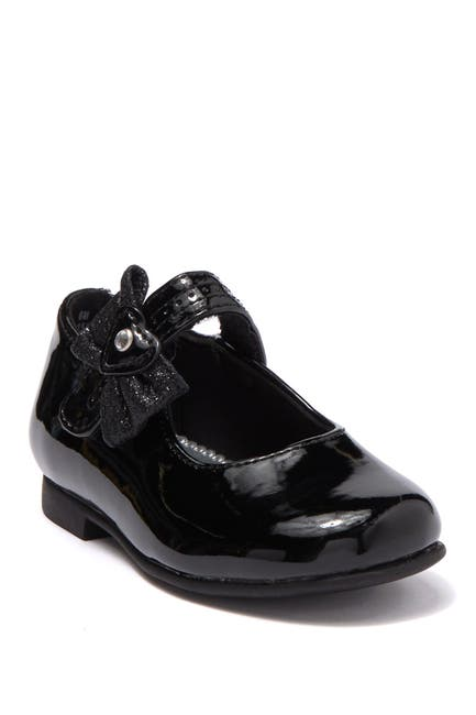 Image of Valencia Imports Lil Annabelle Bow Ankle Strap Flat