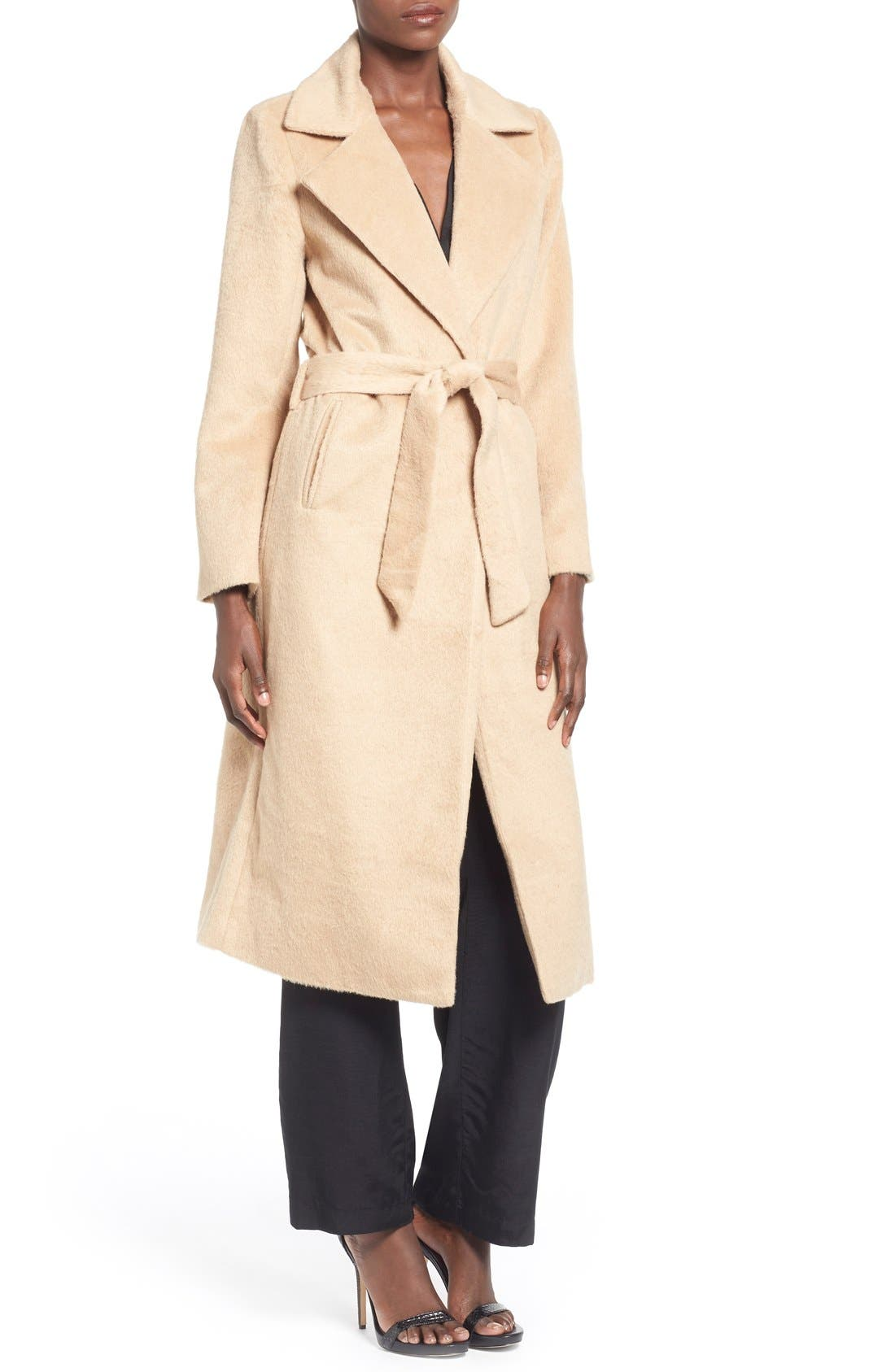 ,                             Belted Wrap Coat,                             Main thumbnail 1, color,                             250