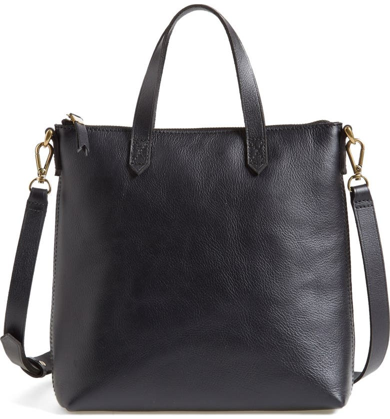 MADEWELL The Transport Leather Crossbody Bag, Main, color, 001