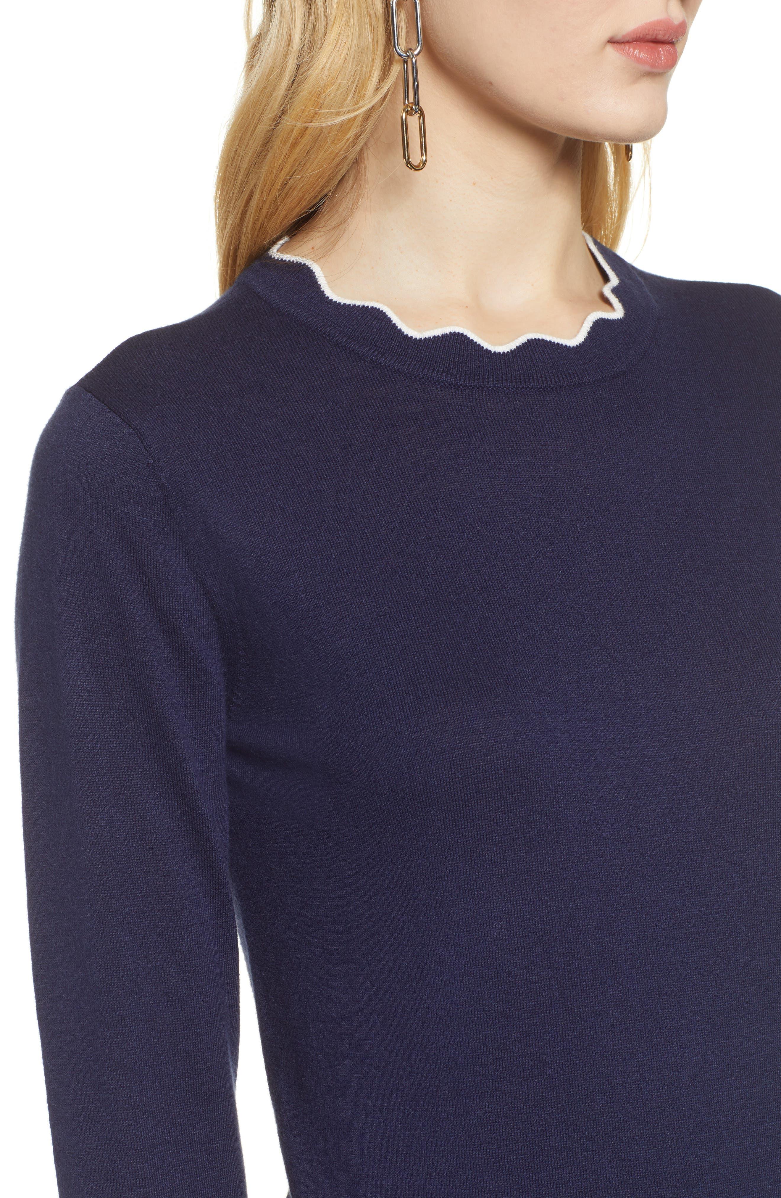 ,                             Scallop Neck Sweater,                             Alternate thumbnail 28, color,                             410