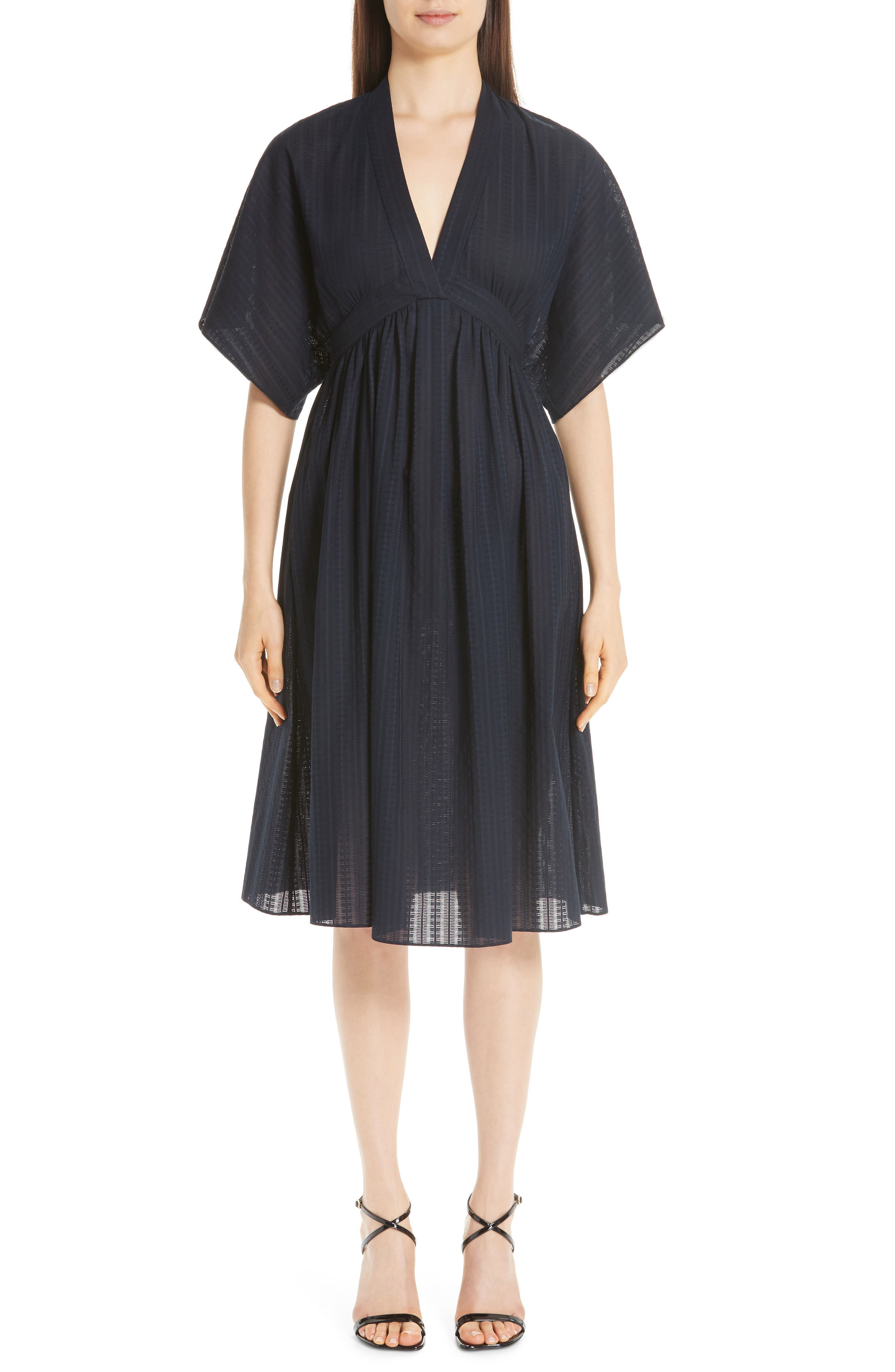 Swiss Voile Dress, Main, color, NAVY