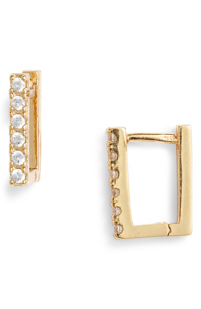 UNCOMMON JAMES BY KRISTIN CAVALLARI Ryman Huggie Earrings, Main, color, GOLD