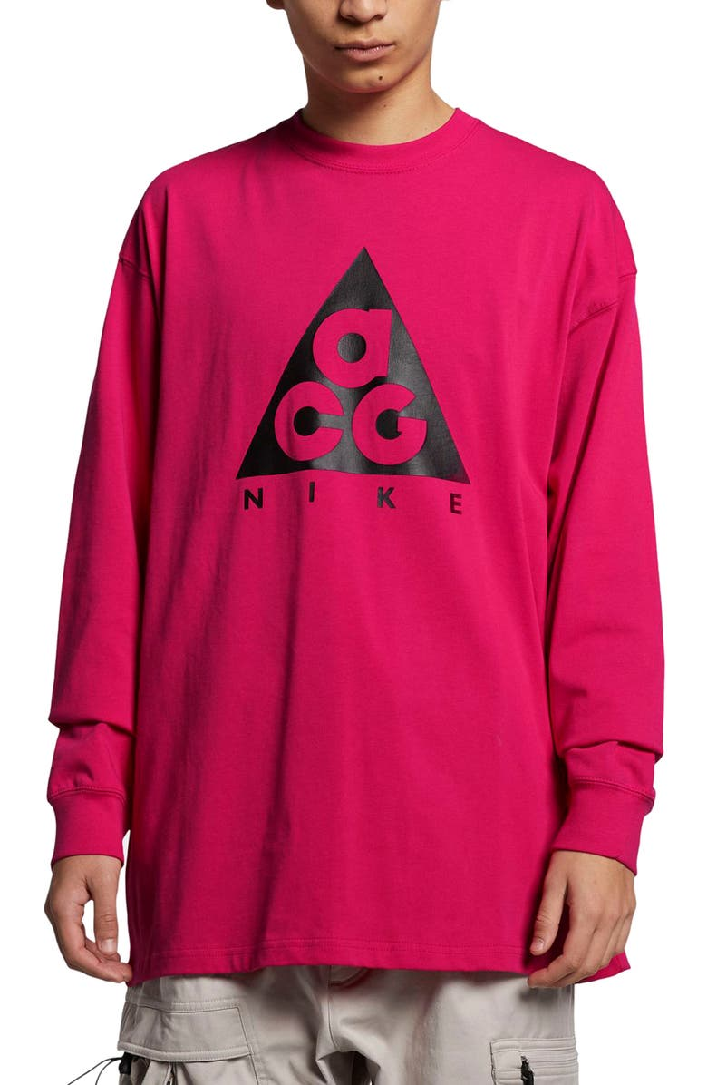 NIKE NRG All Conditions Gear Men's Logo T-Shirt, Main, color, RUSH PINK