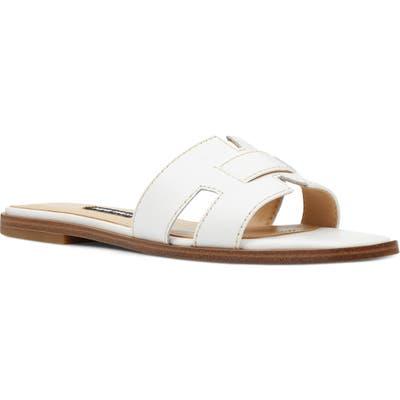 Nine West Gianna Cutout Slide Sandal- White