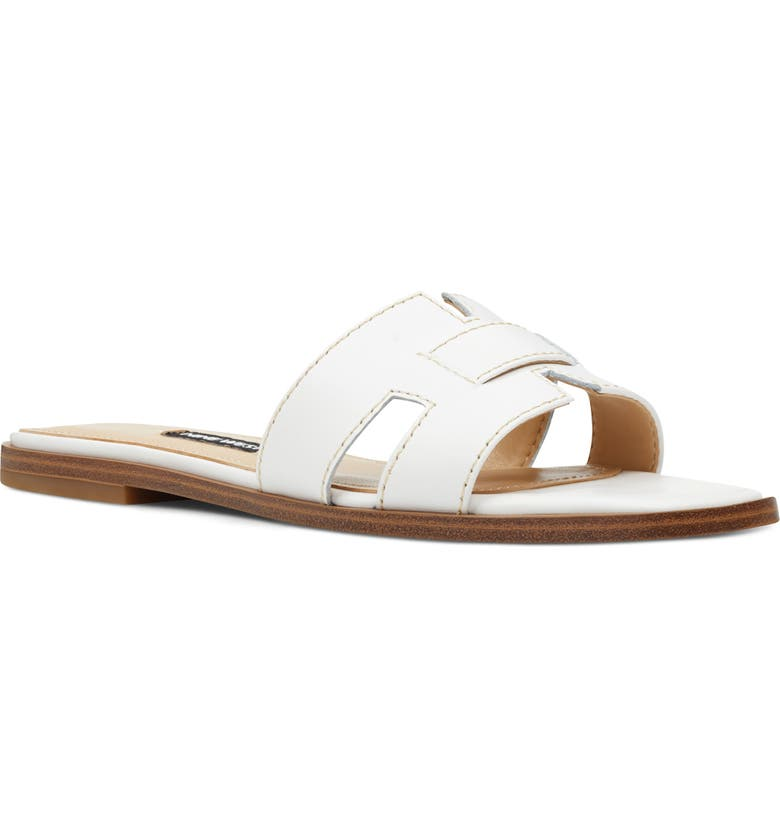 NINE WEST Gianna Cutout Slide Sandal, Main, color, 112