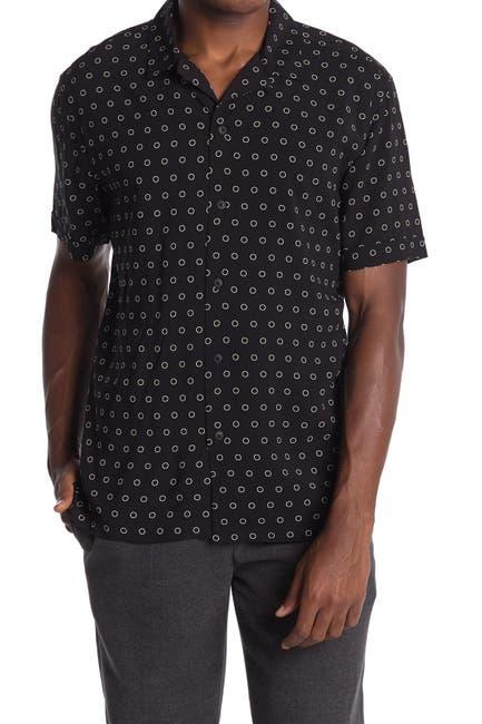 Image of Toscano Short Sleeve Small Circle Print Shirt