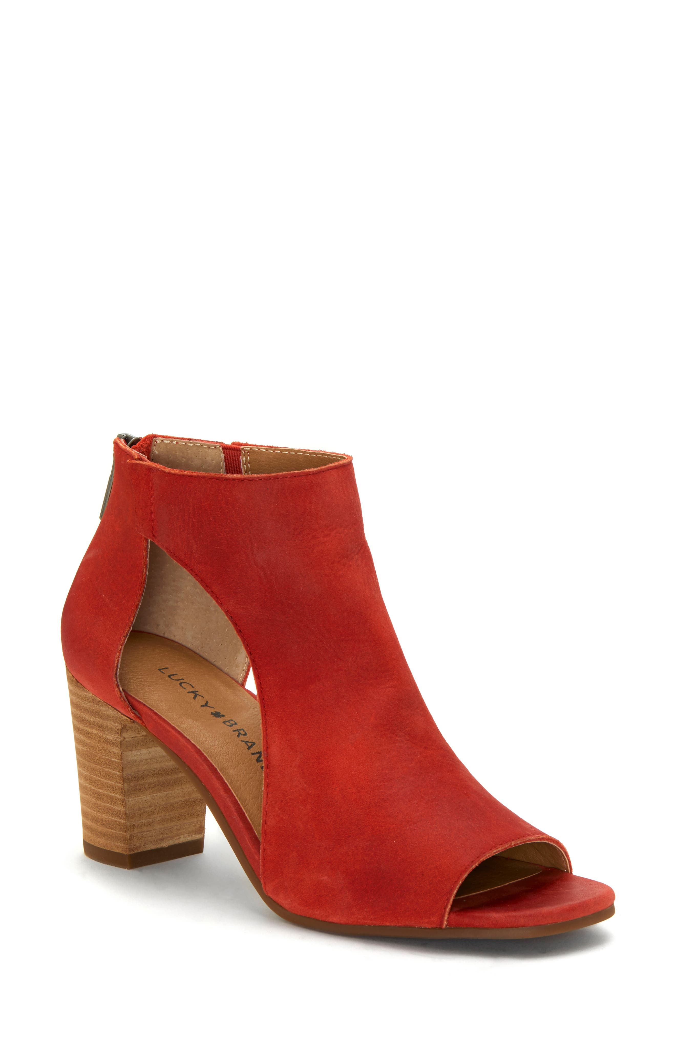 Lucky Brand Udine Shield Sandal, Red