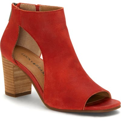 Lucky Brand Udine Shield Sandal, Red