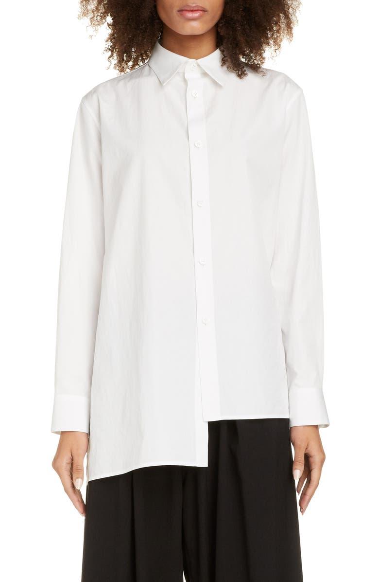 Y'S BY YOHJI YAMAMOTO Long Sleeve Shirt, Main, color, WHITE