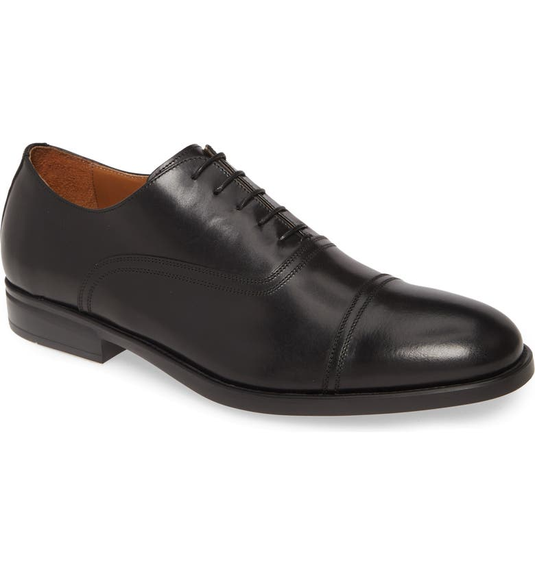 BRUNO MAGLI Butler Cap Toe Oxford, Main, color, BLACK LEATHER