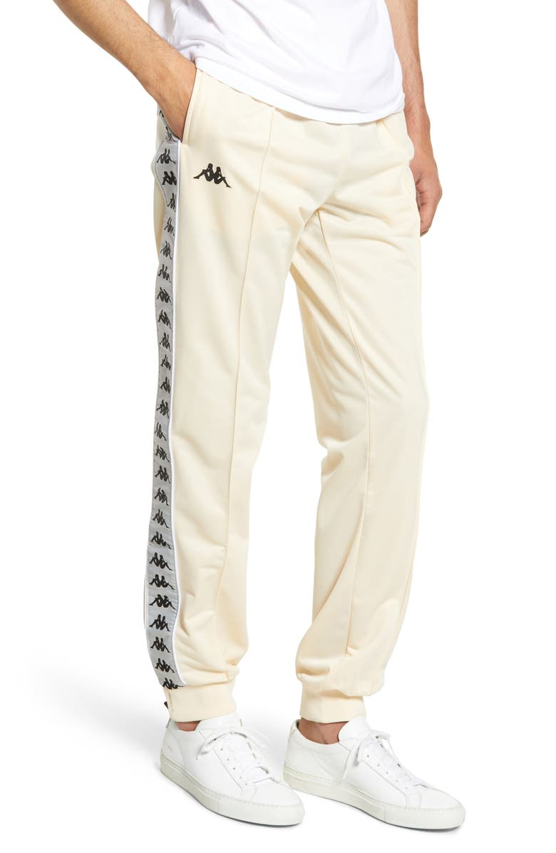 KAPPA 222 Banda Rastoriazz Slim Fit Track Pants, Main, color, BEIGE/ GREY SILVER/ BLACK