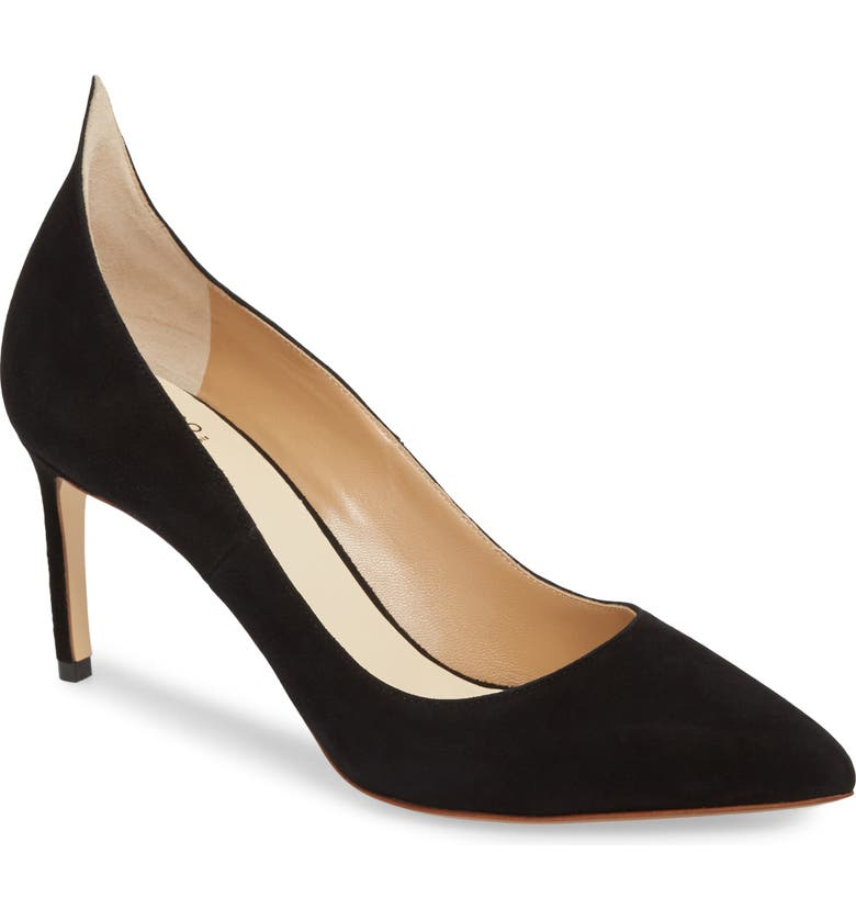 FRANCESCO RUSSO Flame Pointy Toe Pump, Main, color, BLACK