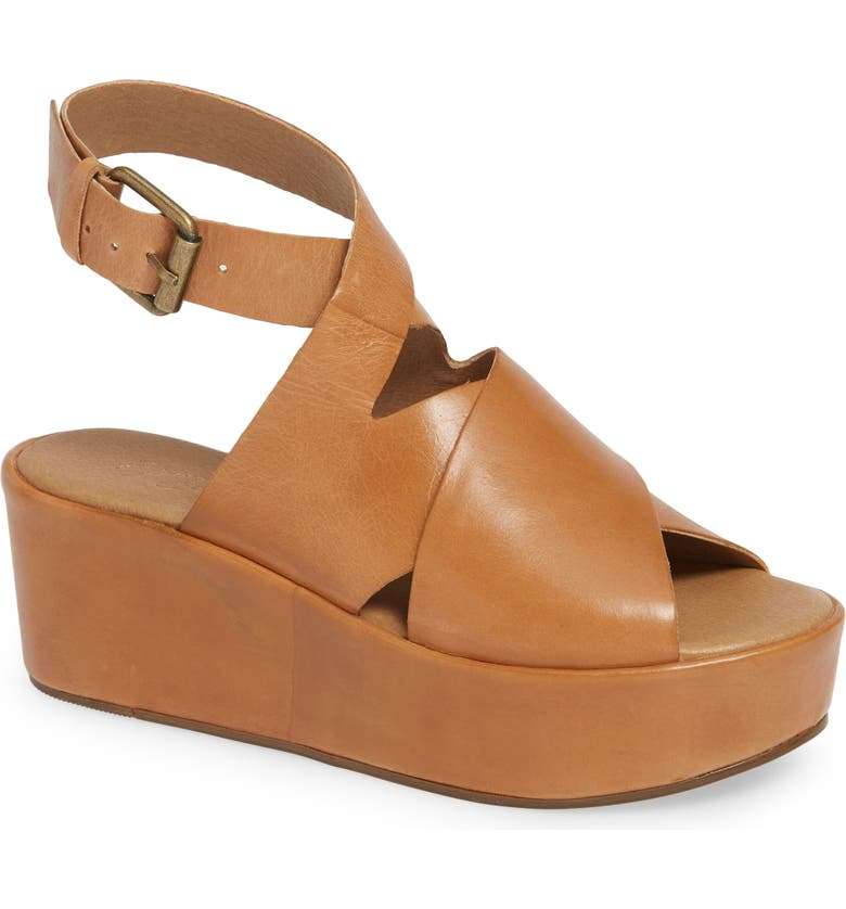 COCONUTS BY MATISSE Runway Platform Sandal, Main, color, TAN LEATHER
