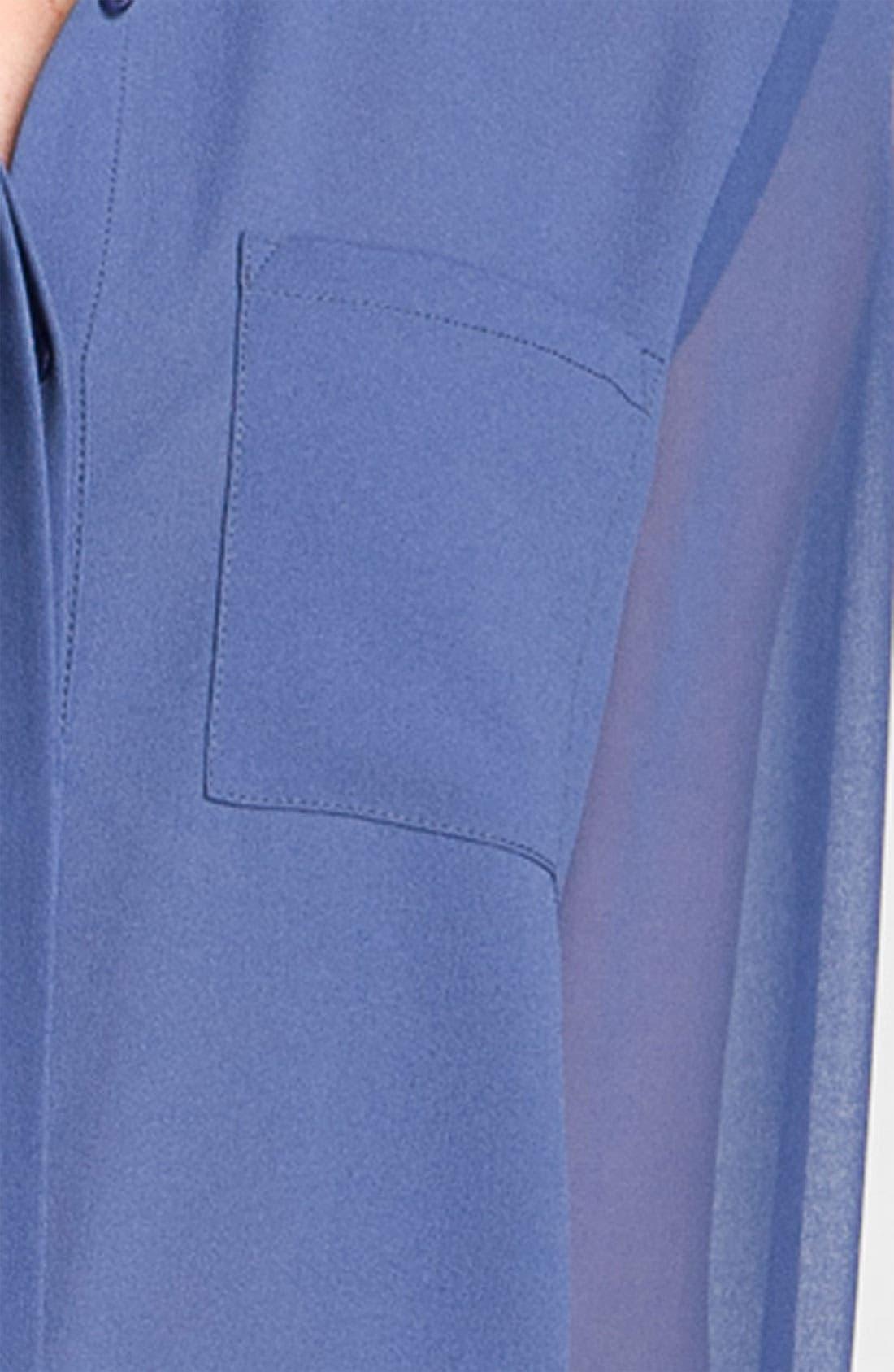 ,                             Lush Sheer Panel High/Low Shirt,                             Alternate thumbnail 6, color,                             409