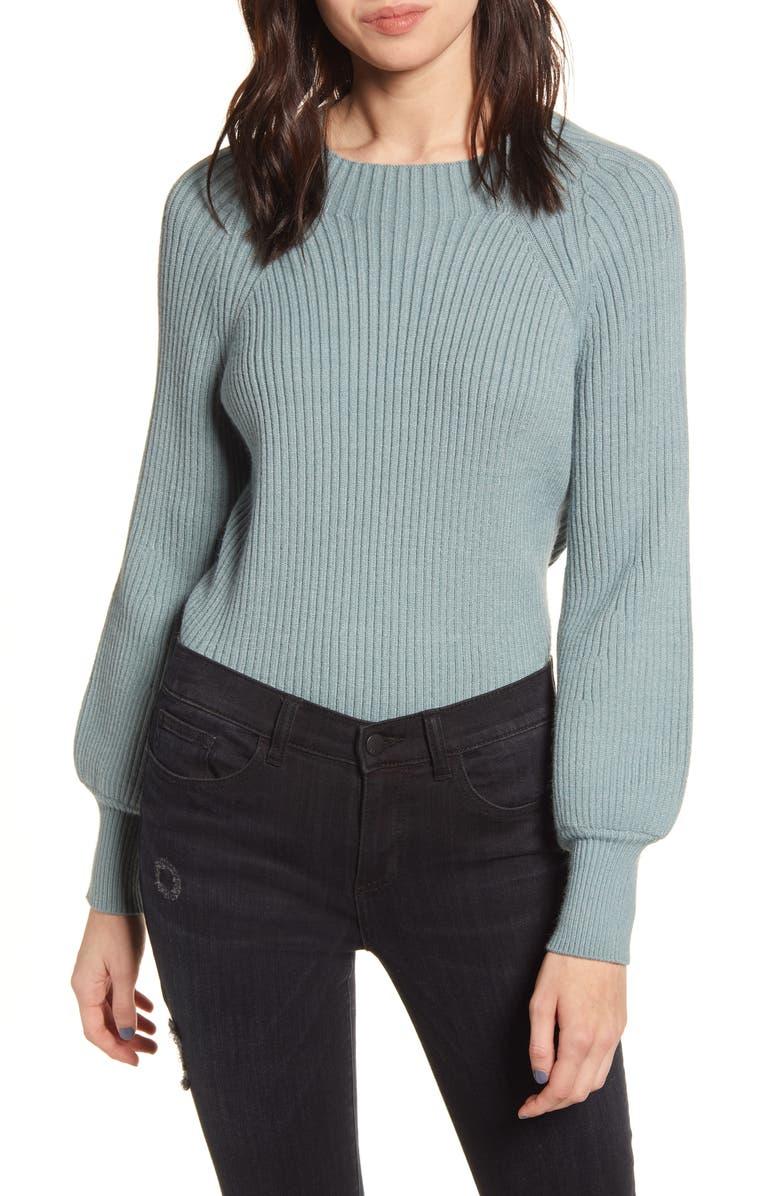 KIRIOUS Ribbed Sweater, Main, color, MINT