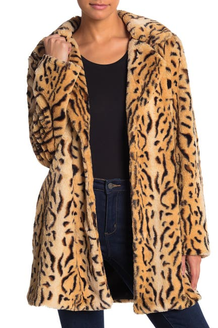 Tiger Print Faux Fur Jacket