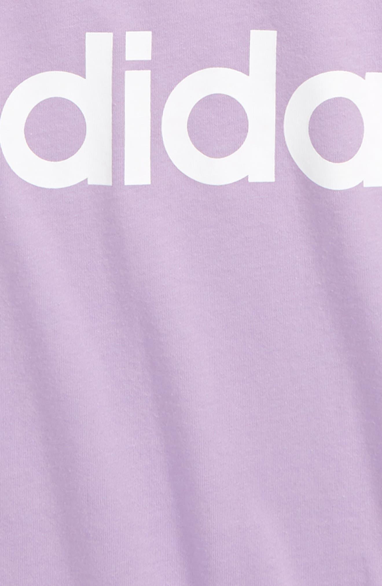 ,                             Trefoil Logo T-Shirt,                             Alternate thumbnail 2, color,                             PURGLO/ WHITE